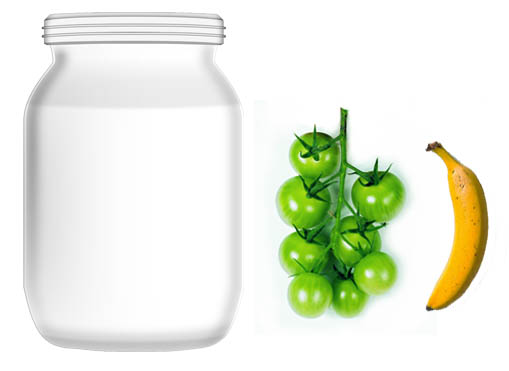 Ripening Green Tomatoes in Jar